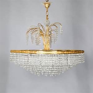 Lustre à Pampilles : grand lustre couronne en bronze dor et pampilles de verre 2015100616 expertissim ~ Teatrodelosmanantiales.com Idées de Décoration