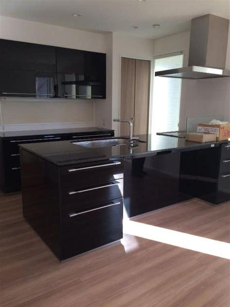 black granite kitchen kitchen