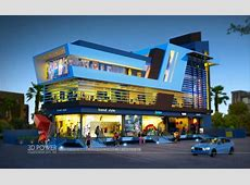 Exclusive 3D Shopping mall day & night rendering