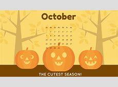 October 2018 Desktop Calendar Wallpapers CalendarBuzz