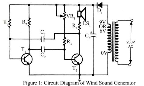 wind sound generator circuit diagram electronic projects
