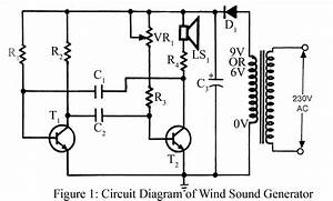 Wind Sound Generator Circuit Diagram