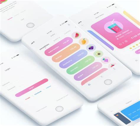 jusbar ios app design modern ios app concept  xd