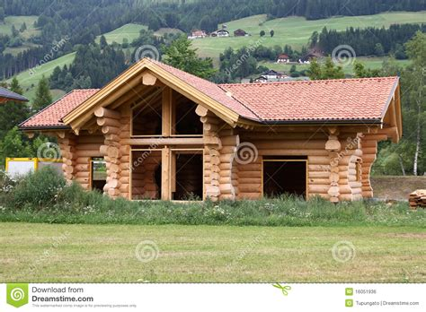 house builder log house stock photo image of house mountain austria