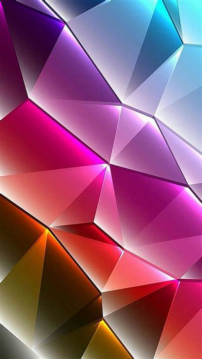 Phone Cool Wallpapers 3d Colorful Triangles