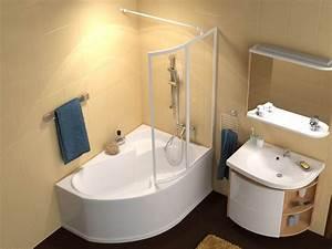 Eckbadewanne Mit Dusche : raumspar wanne 140 x 105 cm mit duschzone duschabtrennung dusche ~ Markanthonyermac.com Haus und Dekorationen