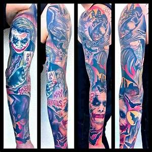 Batman and the joker tattoo sleeve | Tattoos/Piercings ...