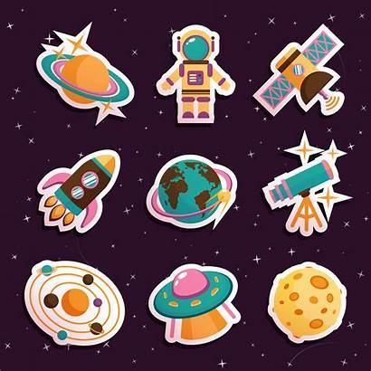 Space Stickers Vector Icon Icons Premium Rocket