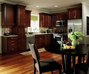 Dark, Wood, Kitchen, Cabinets
