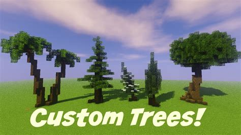 minecraft custom tree tutorial youtube