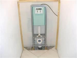 Pose Toilette Suspendu : installation wc suspendu constuire sa maison ~ Melissatoandfro.com Idées de Décoration