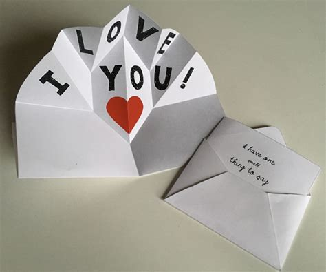 expanding pop      card  love note