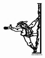 Mountain Coloring Climbing Climber Advertisement sketch template