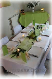 deco mariage blanc décoration table mariage anis blanc chic