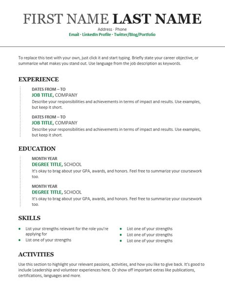 Chronological Resume chronological resume modern design