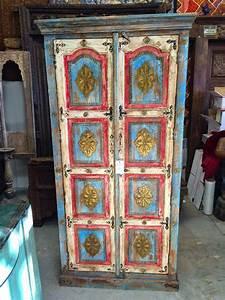 Indian, Wooden, Furnitures, Antique, Armoire, Wardrobe, Closet