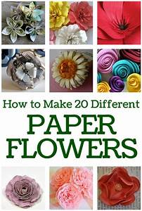 How To Make 20 Different Paper Flowers - The Crafty Blog