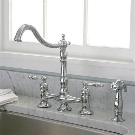 style kitchen faucets charelstown bridge style 2 handle chrome kitchen faucet