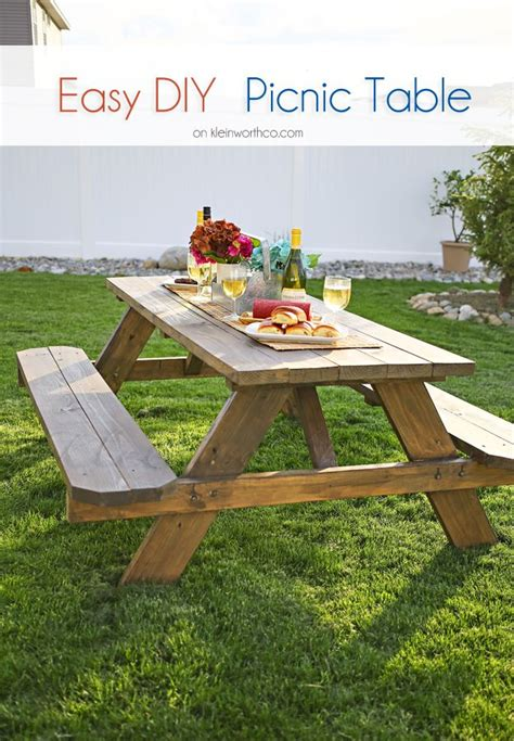 diy picnic table ideas  pinterest