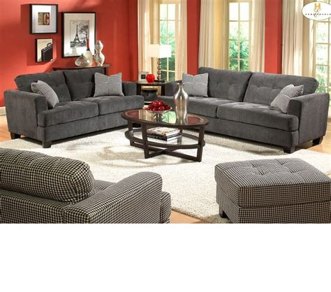 gray sofa set dreamfurniture 9856 sofa set gray