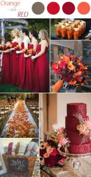 fall wedding colors 6 practical wedding color combos for fall 2015