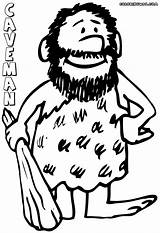 Caveman Coloring Pages Printable Cave Cartoon Fat Coloringonly Torch Boj Gabba Martha Speaks sketch template