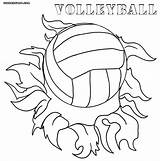 Coloring Volleyball Pages sketch template