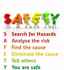 Safety: Search, Analyse, Find, Eliminate, Tell, You are ...