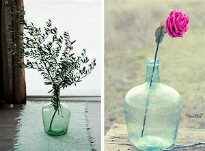 Decorar bodas con Damajuanas o garrafas de vidrio el