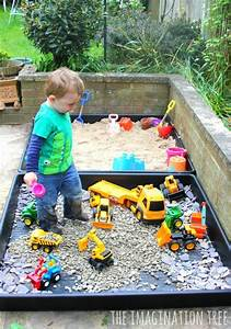diy sand box and gravel pit diy playground outdoor
