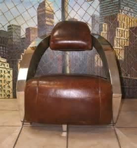 Fauteuil Vintage Cuir Et Chrome by Fauteuil Club Vintage Design En Cuir Et Tissu Au Meilleur