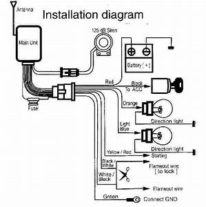 Wiring Diagram Of Motorcycle Alarm System  With Images