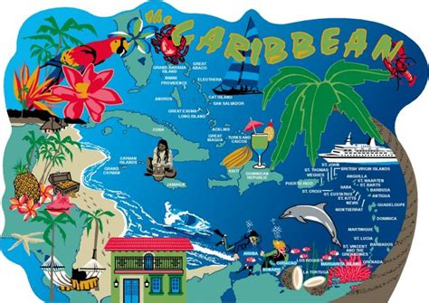 Caribbean Map   The Cat's Meow Village