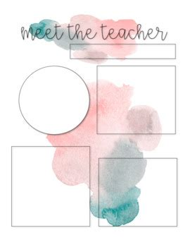 meet the template watercolor meet the editable templates by the