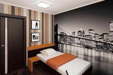 papier peint pour chambre ado décoration chambre ado papier peint skyline rayure des