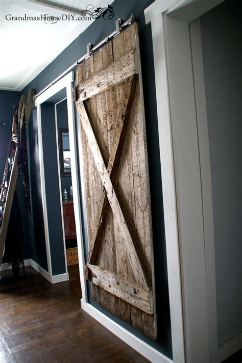 rustic hanging diy barn door diyideacentercom