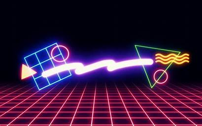 Neon 80s Wallpapers Retro Background Shapes Behance