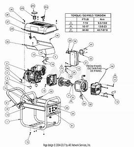 Homelite Hg3510 Series Electric Generator Parts Diagram For General Assembly