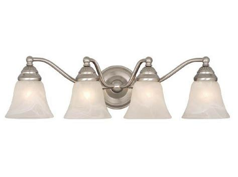 Brushed Nickel Bathroom Light Fixtures by Brushed Nickel 4 Light Vaxcel Standford Bathroom Vanity