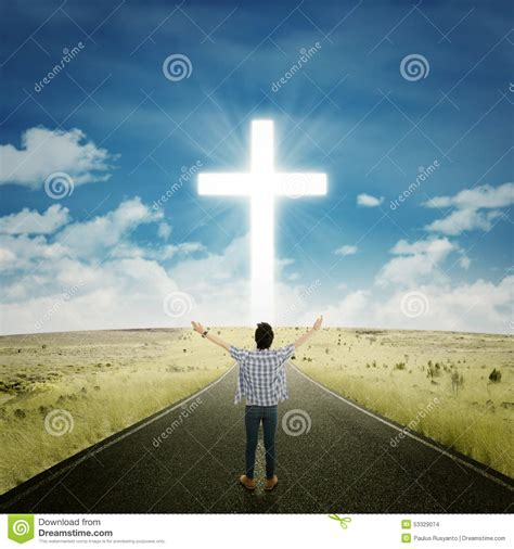 man worshiping   god stock photo image  health
