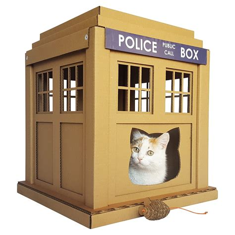 Dr Who Tardis Cat House  Entering Into An Alternative World