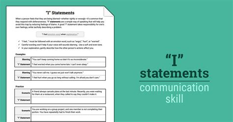 statements worksheet therapist aid