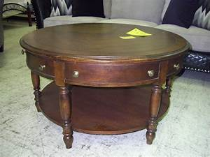 round coffee tables with storage ottomans urban rustic With round wooden coffee table with drawers