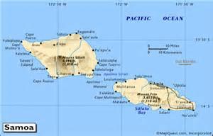 Fiji Tahiti Samoa Map
