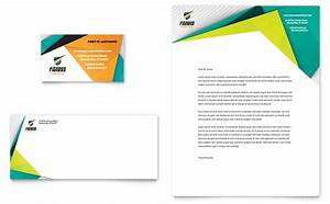 fitness trainer business card letterhead template design With logo templates free download word