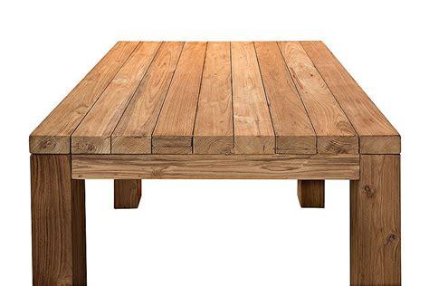 table carr 233 e vieux teck massif 90 x 90 cm mod 232 le