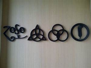 Custom wall decor inspired by Led Zeppelin symbols | I ...