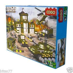 975 pcs building blocks army helicopter tank packing cogo
