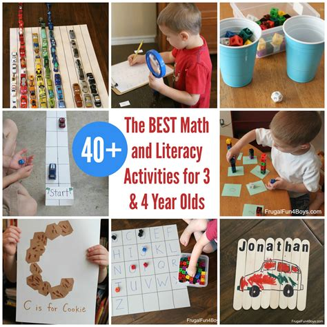the best math and literacy activities for preschoolers 3 614 | Preschool Learning FB