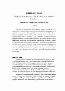 Experiment Joule Report By  Fildia Putri